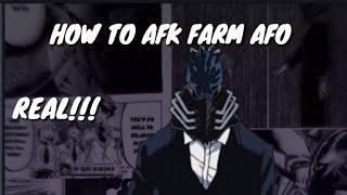 WIE AFK FARM AFO (Boku No Roblox)