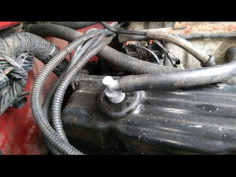 change  pcv valve     located