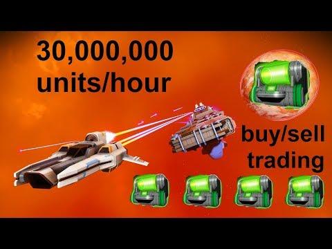 No Man's Sky 1.3 - making 30,000,000 units/hour trading (buy/sell Dynamic Resonators)