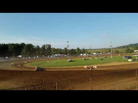 MSCS SERIES  Brownstown Speedway June 29th Heat Race Justin Lewis  #77