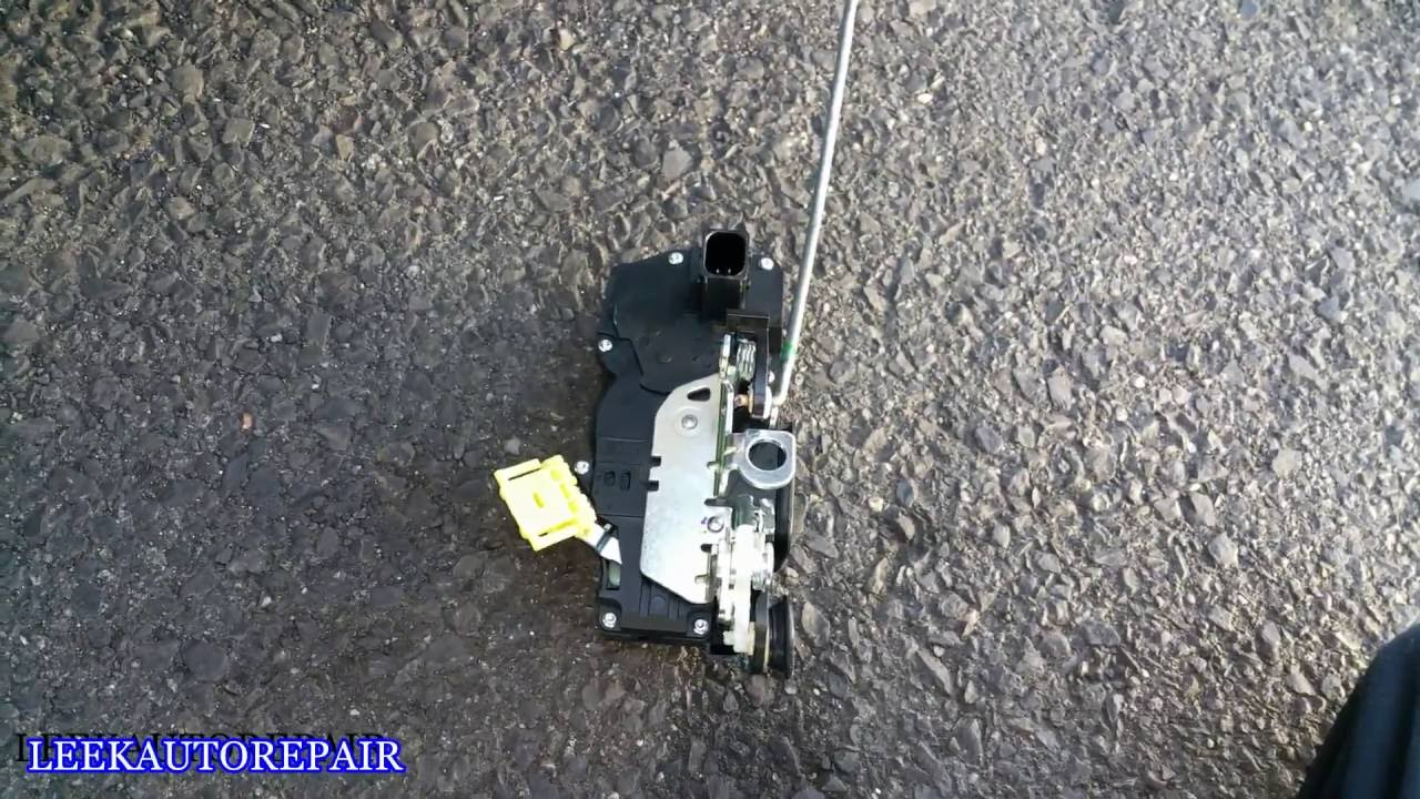 2007 2014 Chevy Suburban Rear Door Lock Actuator Replacement Youtube