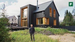 Чёрно-горчичный дом вместо трехкомнатной квартиры