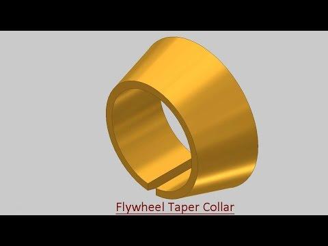Flywheel Taper Collar (Video Tutorial) Autodesk Inventor