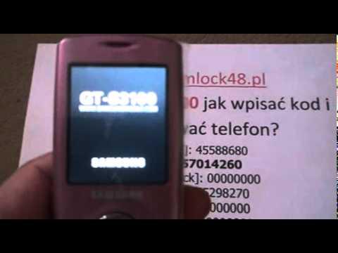 Simlock Samsung s3100 jak wpisać kod, Unlock Samsung s3100