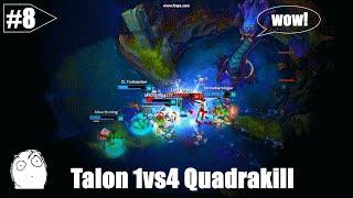 LoL Best Moments # 8 Talon 1vs4 Quadrakill【League of Legends】
