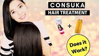 Trying Hair Hack-  Consuka Hair Treatment For Extremely Damaged Hair + Get Straight Hair Naturally?
