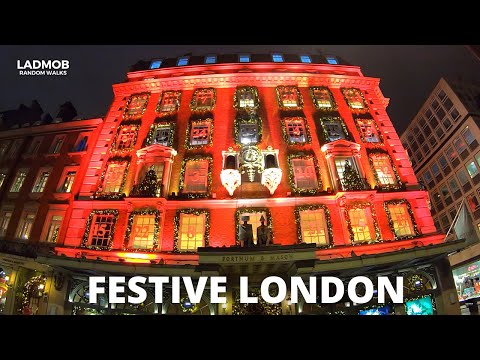 Festive LONDON Christmas Lights and The most expensive Street in the WORLD   London Walks