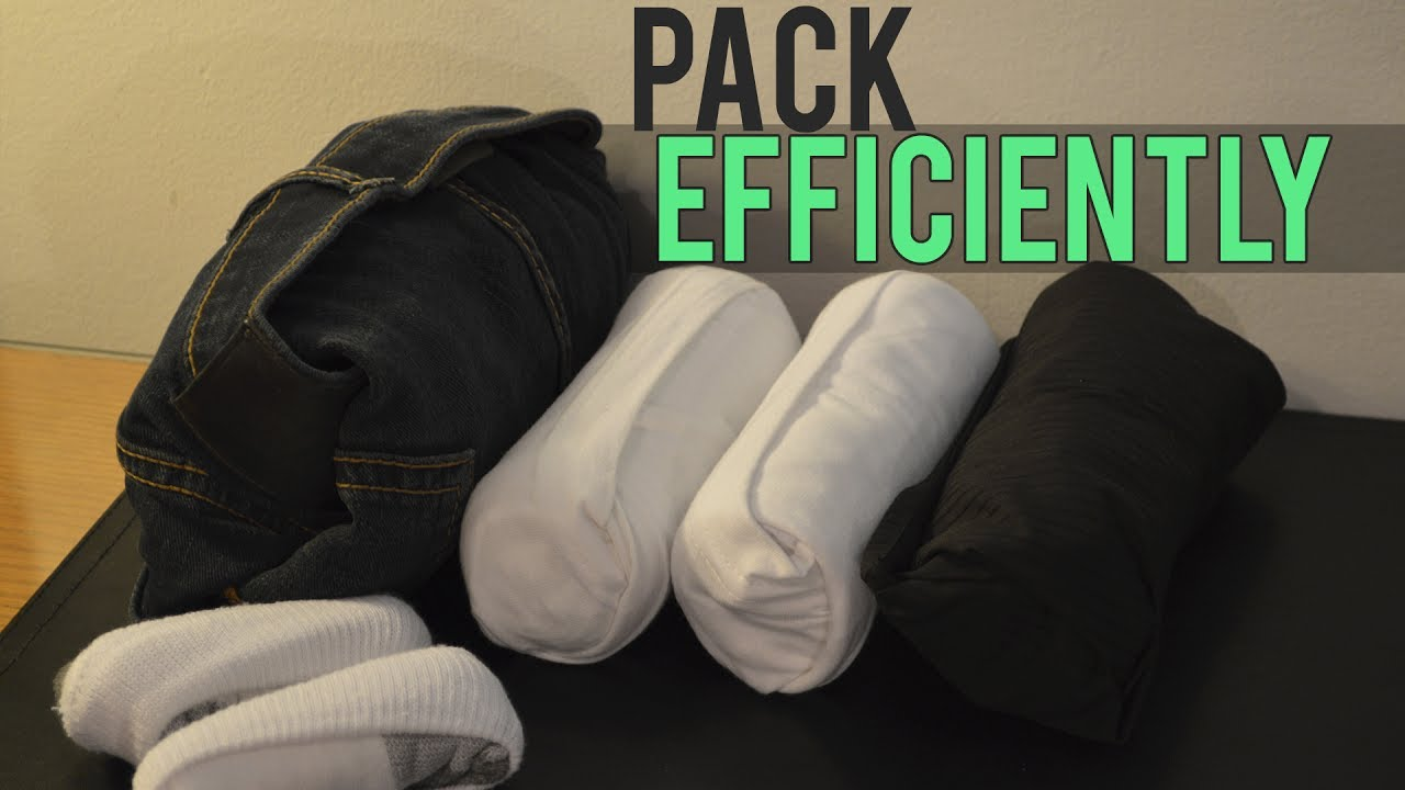 How to Pack Clothes for Traveling 👕💼 - YouTube