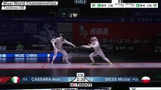 Wuxi 2018 Fencing World Championships mf t08 POL vs ITA