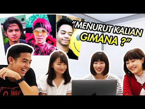 REAKSI CEWEK JEPANG LIAT YOUTUBER & AKTOR INDONESIA! (Atta halilintar, Aliando, dll)