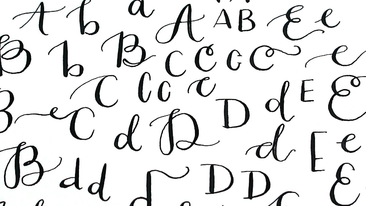 Modern Calligraphy Alphabet Lettering Play Practice