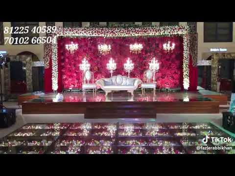 Glass Floor Grand Wedding Marriage Reception Event Stage Decoration New Design India 91 81225 40589