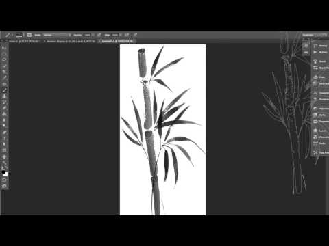 How to create a Chinese ink effect with Photoshop from any illustration