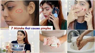 7 Mistake that causes PIMPLES  | #Beauty #Skincare #Rinkalsoni