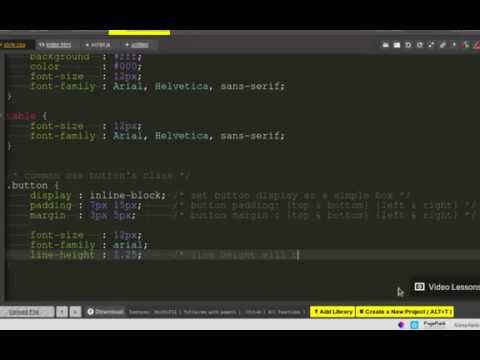 Lesson Create HTML CSS3 Buttons - App CloudWebCode Online Editor