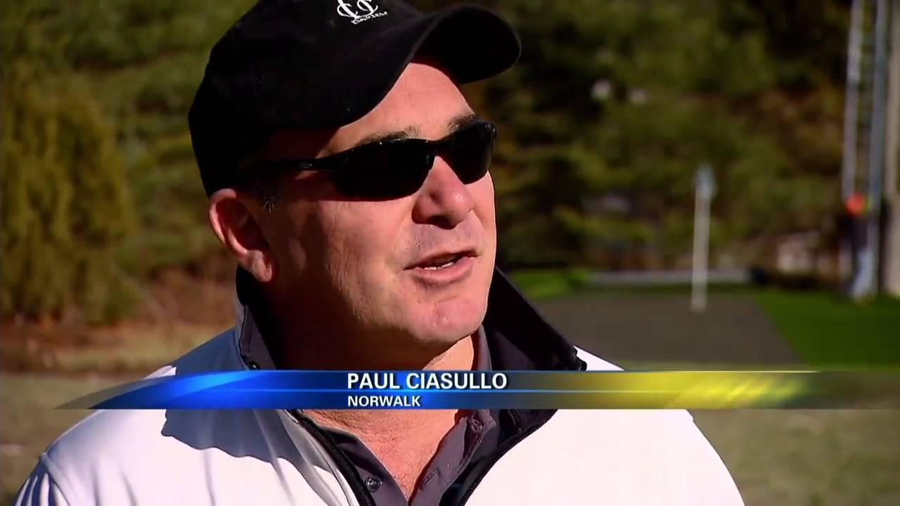 Paul Ciassulo, of Norwalk, builds golf course in backyard