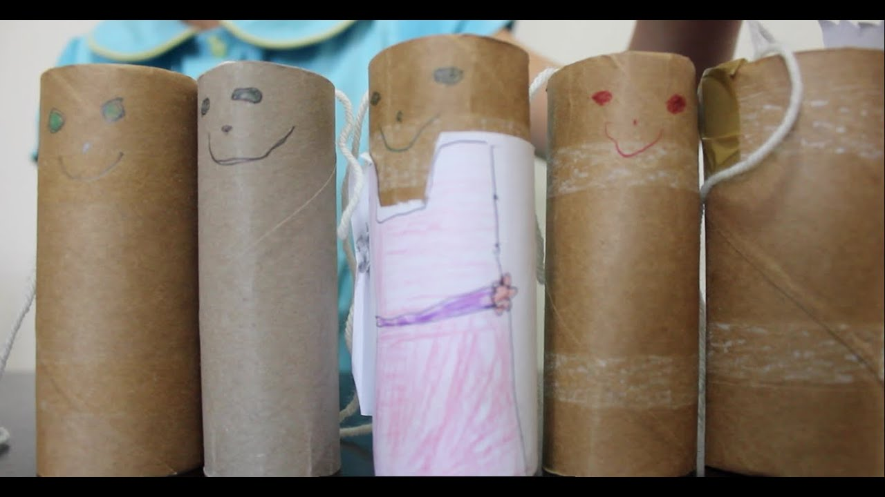 How To Make A Toilet Paper Roll Tube People Kids Craft