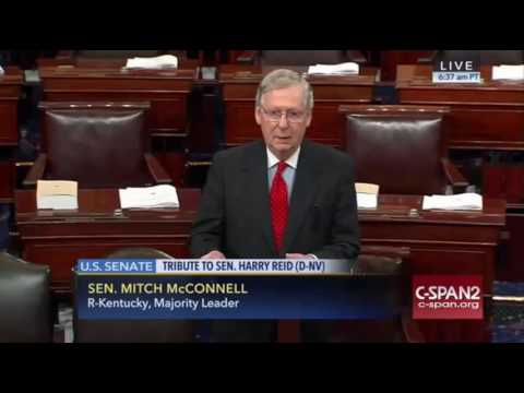 Mitch McConnell Tribute To Harry Reid 12/8/16