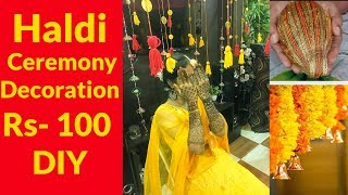 Diy Wedding Background || Haldi Ceremony || Indian Wedding