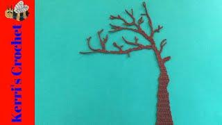 Crochet Tree Tutorial - Crochet Applique Tutorial