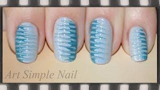 Легкий маникюр для девочек (маникюр иголкой)   Blue Needle Nail Art- ArtSimpleNail