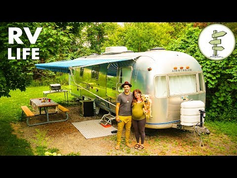 Nomadic Couple Living in an Incredible Vintage Airstream - Interview & Tour