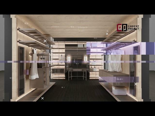 Proyecto de gabinete Sistema de almacenamiento de guardarropa abierto y sistemas de armario abierto