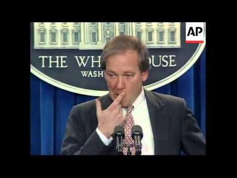USA: WHITE HOUSE PRESS SPOKESMAN MIKE MCCURRY RESIGNS