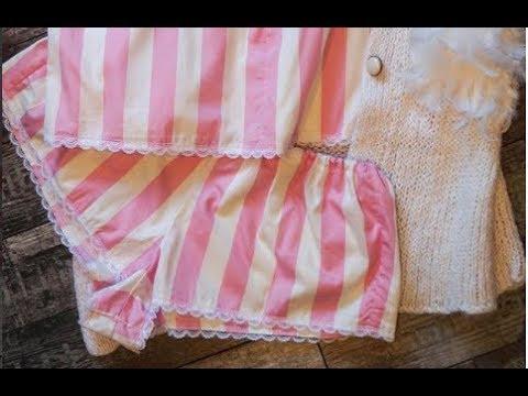 Пижамные шелковые шортики + выкройка