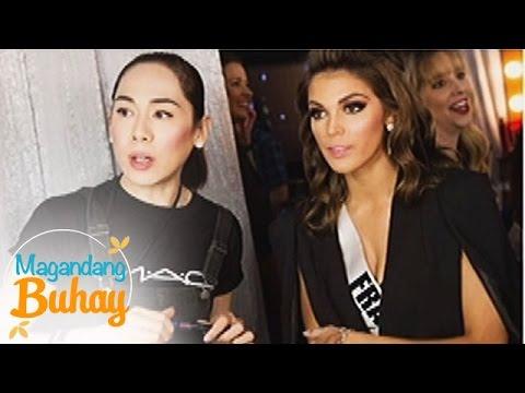 Magandang Buhay: RB as Miss France's make up artist