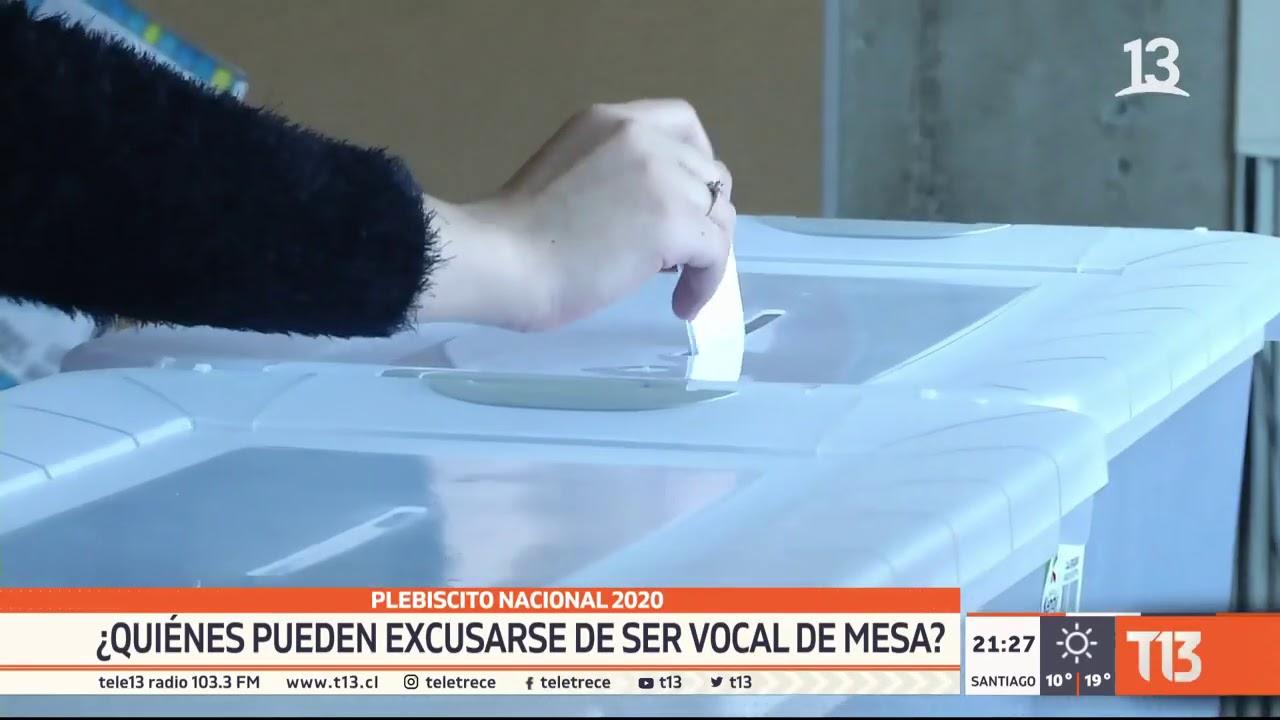 Plebiscito 2020: Servel publicó nómina de los vocales de mesa