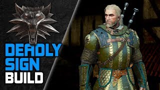 Witcher 3 Deadly 💀 SIGN BUILD for NG+ 🔥 (Skills, Gear, Potions)