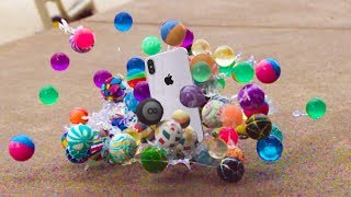 Can Bouncy Balls Protect iPhone X from Extreme Drop Test?