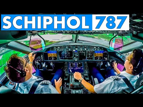 Piloting BOEING 787 into Amsterdam Schiphol