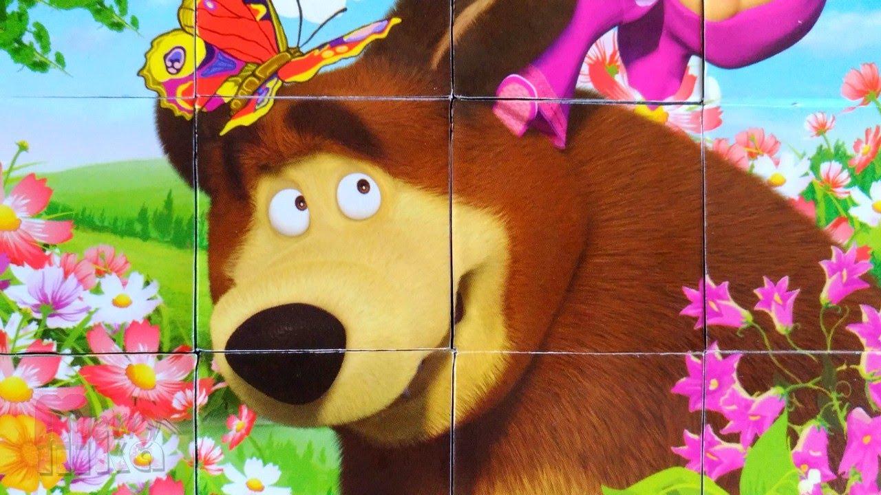 разрезная картинка маша и медведь фото