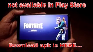 FORTNITE now on Any Android dPhone [How to Download & Install] in HINDI