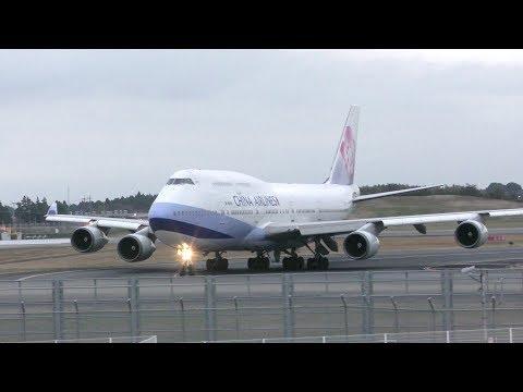 ✈[4K] また来ました China Airlines B747 B-18210 landing @Narita Airport rwy34R(WX970M/成田空港)