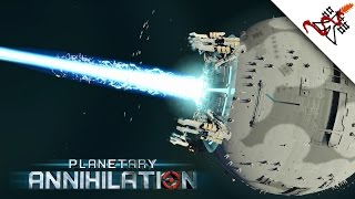 Planetary Annihilation - The ANNIHILASER ( Death Star) in Action [1080p/HD]