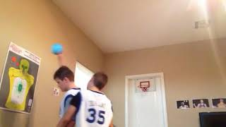 Sharper image mini hoop 1v1 with brother