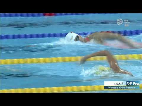 Women's 400m Freestyle Ariarne TITMUS WORLD RECORD Short Course World Championships 2018
