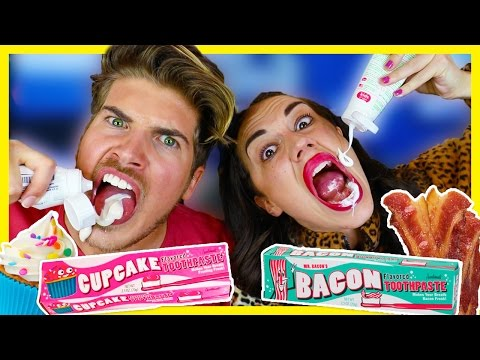 TRYING WEIRD TOOTHPASTE FLAVORS W/ MIRANDASINGS!