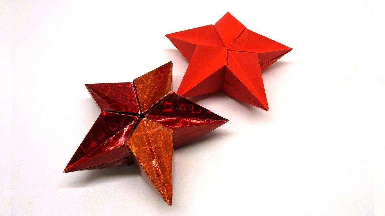 Пятиконечная звезда из бумаги своими руками фото 664