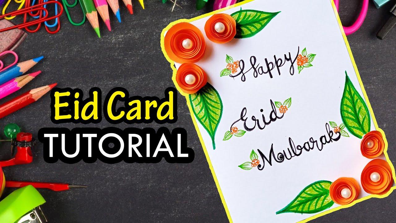 handmade greeting card for eid  how to make handmade eid