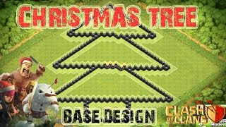 Clash of Clans: Christmas Tree Base Design