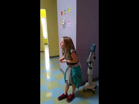 Getting her shots. Hilarious reaction