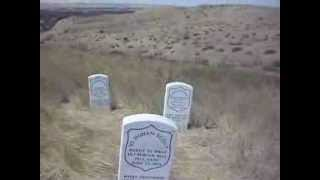 Indian Scout graves at the Little Bighorn Battlefield National Monument in Montana