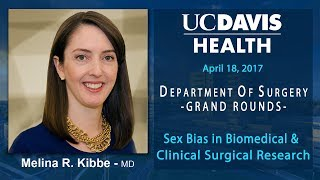 Sex Bias in Biomedical & Clinical Surgical Research - Melina Kibbe, MD