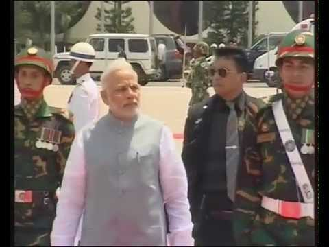 PM Modi arrives in Dhaka to a ceremonial welcome