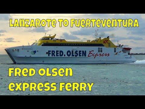 Fred Olsen Express Ferry - Lanzarote to Fuerteventura