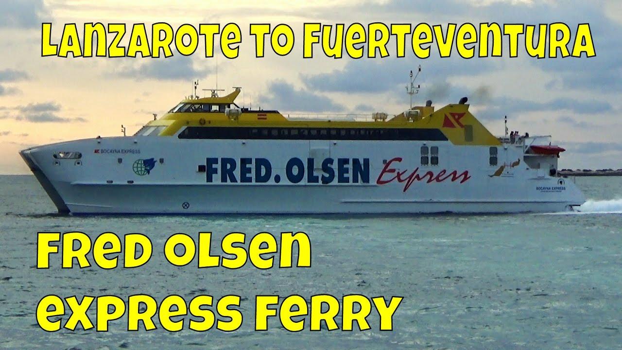 Fred olsen express ferry lanzarote to fuerteventura for Oficina armas lanzarote